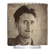 George Orwell 2 Shower Curtain