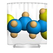 Ghb Molecular Model Shower Curtain