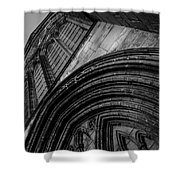 Glasgow Cathedral Bw Shower Curtain