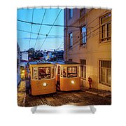 Gloria Funicular, Lisbon, Portugal Shower Curtain