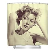 Gloria Grahame, Vintage Actress Shower Curtain