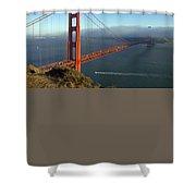 Golden Gate Bridge Shower Curtain by Melanie Viola