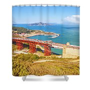 Golden Gate Bridge Vista Point Shower Curtain