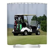 Golfing Golf Cart 04 Shower Curtain