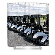Golfing Golf Carts Shower Curtain