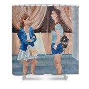 2 Gossip Girls Shower Curtain