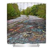Graffiti Highway, Facing North Shower Curtain
