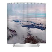 Grand Canyon Above The Clouds Shower Curtain