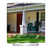 Grand Old House Porch Shower Curtain