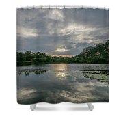 Granite Basin Lake Sunset Shower Curtain