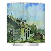 Granite Ghost Town Montana Shower Curtain