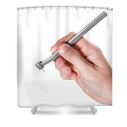 Hand And Dentist Tool Shower Curtain