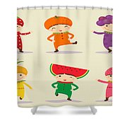 Happy Children  Shower Curtain
