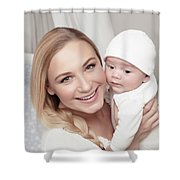 Happy Family At Home Shower Curtain