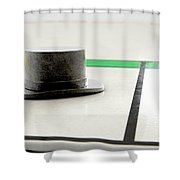 Hat Icon On A Boardgame Shower Curtain
