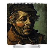 Head Of A Peasant With Cap Shower Curtain