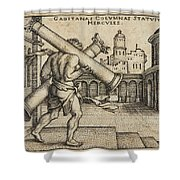 Hercules Carrying The Columns Of Gaza Shower Curtain