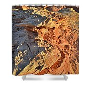 High Above Wash 3 In Valley Of Fire Shower Curtain