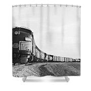 Historic Freight Train Shower Curtain