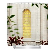 Holiness To The Lord Shower Curtain
