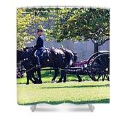 Horse And Caisson Team At Arlington Cemetery Shower Curtain