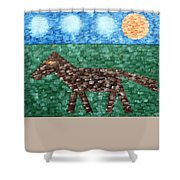 Horse Shower Curtain by Patrick J Murphy
