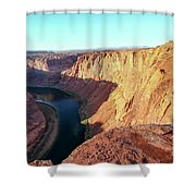 Horseshoe Bend Colorado River Arizona Usa Shower Curtain