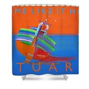Hot Boat Shower Curtain