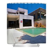 House And Pool Shower Curtain
