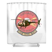 Hughes Oh-6a Cayuse Miss Clawd Iv Shower Curtain