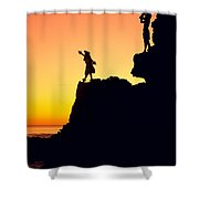 Hula Silhouette Shower Curtain
