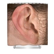 Human Ear Shower Curtain