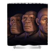 Human Evolution Shower Curtain