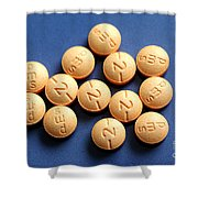 Hydromorphone 2 Mg Tablets Shower Curtain