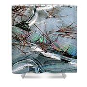 2. Ice Prismatics 1, Slaley Sand Quarry Shower Curtain
