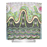 Ilwolobongdo Abstract Landscape Painting2 Shower Curtain
