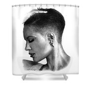 Halsey Drawing By Sofia Furniel Shower Curtain