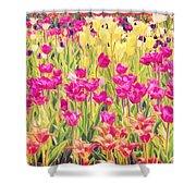 Impressionist Floral Xvi Shower Curtain