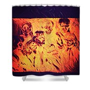 In Heaven With Jesus Shower Curtain