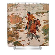 In Hot Pursuit Shower Curtain
