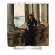 In The Belfry Of The Campanile Of St Marks Venice Henry Woods Shower Curtain