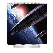 Independence Day 1996 Shower Curtain