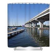 Indian River Lagoon At Vero Beach In Florida Shower Curtain