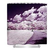 Infrared Garden Shower Curtain
