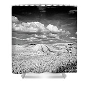 Infrared Landscape In Norway Shower Curtain