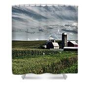 Iowa Farmstead Shower Curtain