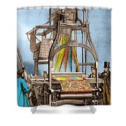 Jacquard Loom For Weaving Textiles Shower Curtain