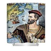Jacques Cartier (1491-1557) Shower Curtain