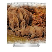 Jazi And Mom Shower Curtain