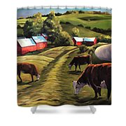 Jenne Farm In Reading Vermont Shower Curtain